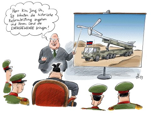 P. Altmaier u. Kim Jong Un